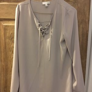 Tie up long sleeve blouse